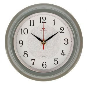 "Часы настенные ""Классика"", ""Рубин"", серый обод  21х21 см 2566719"