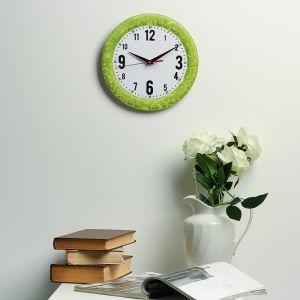 Часы настенные классика, круглые 24 см  микс 3640623
