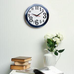 Часы настенные классика, круглые 24 см  микс 3640630