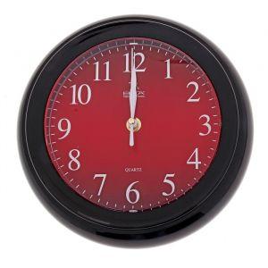 """Часы настенные круглые мини """"Минуты"""", чёрно-красные"""