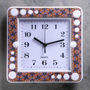 """Часы настенные, квадратные, """"Цветы"""", 26х26 см, микс  2319249"""