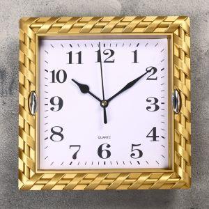 """Часы настенные, серия: Классика, """"Зои"""", цвет золото, 21х21 см 2457677"""