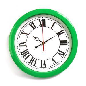 """Часы настенные, серия: Классика, """"Классика"""", зелёный обод, 28х28 см 2436480"""