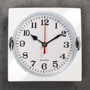 "Часы настенные, серия: Классика, ""Лаура"", хром, 15х15 см 831336"
