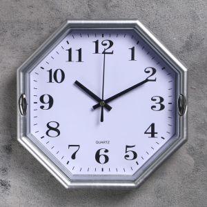 """Часы настенные многогранник """"Свет"""", 23 ? 23 см, белые"""