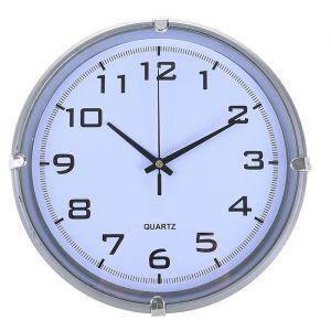 "Часы настенные, серия: Классика, ""Модерн"", серебро, 24.5х24.5 см 2334897"