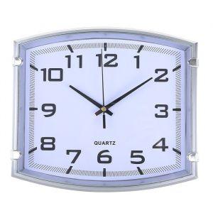 "Часы настенные, серия: Классика, ""Модерн"", серебро, 25х22 см 2334896"