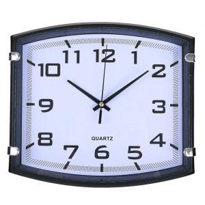 """Часы настенные, серия: Классика, """"Модерн"""", чёрные, 25х22 см 2334895"""