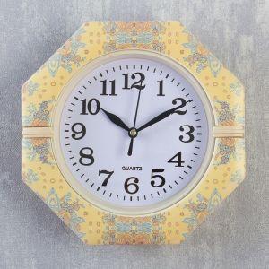 """Часы настенные, серия: Классика, """"Пионы и васильки"""", 19х19х3 см   4156398"""