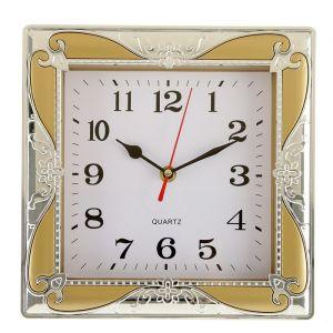 """Часы настенные, серия: Классика, """"Розаулин"""", хром, 24х24 см, микс 2582098"""