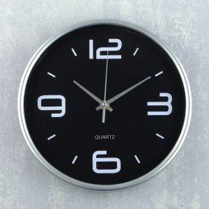 """Часы настенные, серия: Классика, """"Сильва"""" d=25 см, дискретный ход   4123038"""