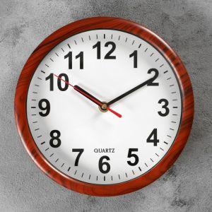 """Часы настенные, серия: Классика, """"Увертюра"""", под дерево, 21х21 см 2590545"""
