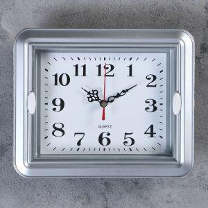 "Часы настенные, серия: Классика, ""Янита"",  22х3х18 см, 1 АА,  плавный ход     4719218"