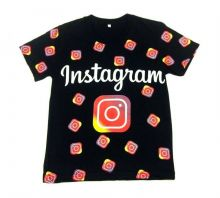 Футболка instagram черная B-FT125-SU (100%хб)