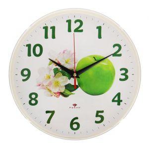 """Часы настенные """"Зелёное яблоко"""", """"Рубин"""", 25х25 см 2566694"""