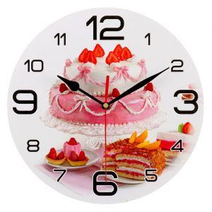 """Часы настенные круглые """"Свадебный торт"""", 24 см 3571468"""