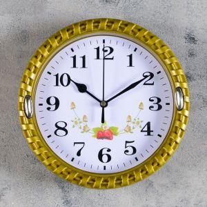 """Часы настенные, серия: Классика, круг """"Земляника"""", рама  микс d=22 см 831066"""