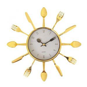 """Часы настенные, серия: Кухня, """"Вилки, ложки, поварешки"""", d=25 см, плавный ход  831074"""