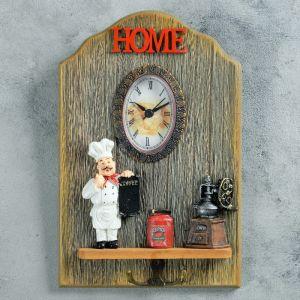 """Часы настенные, серия: Кухня, """"Дюкасс"""", с крючком, 26х17 см   4476153"""