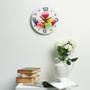 "Часы настенные, серия: Кухня, ""Макаруны"", 24  см, микс 3571459"