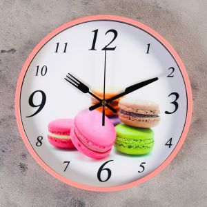 "Часы настенные, серия: Кухня, ""Макаруны"", d=30 см   4432466"