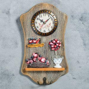 "Часы настенные, серия: Кухня, ""Мафала"", с крючком, 29х17 см   4476158"