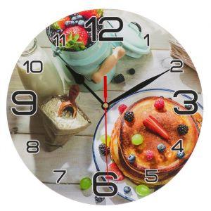 """Часы настенные, серия: Кухня, """"Панкейк с ягодами"""", 24 см 3571405"""