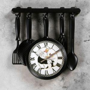 """Часы настенные, серия: Кухня, """"Повар с собачкой"""", 30х33 см 911436"""