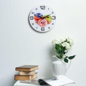"""Часы настенные, серия: Кухня, """"Пончики"""", 24  см, микс 3571428"""