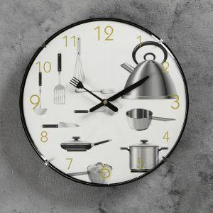 """Часы настенные, серия: Кухня, """"Пора готовить"""", d=30 см 831071"""