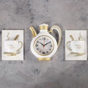 """Часы настенные, серия: Кухня, """"Сангино"""", белые, 26.5х24 см 4551490"""