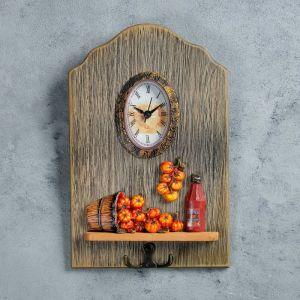 """Часы настенные, серия: Кухня, """"Сатама"""", с крючком, 26х17 см   4476160"""