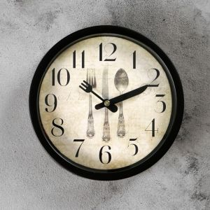 """Часы настенные, серия: Кухня, """"Сервировка"""", d=19 см 1716913"""