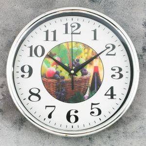 """Часы настенные, серия: Кухня, """"Фруктовая корзинка"""", 26х26 см микс 2586593"""
