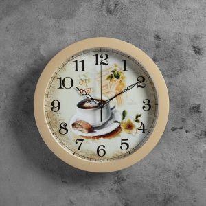 """Часы настенные, серия: Кухня, """"Чашка кофе"""", МИКС 28х28 см 883181"""