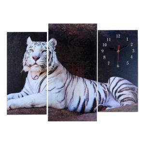 Часы настенные модульные «Белый тигр», 60 ? 80 см
