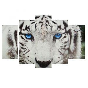 Часы настенные модульные «Белый тигр», 80 ? 140 см