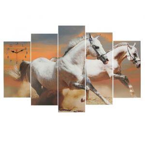 Часы настенные модульные «Пара лошадей», 80 ? 140 см