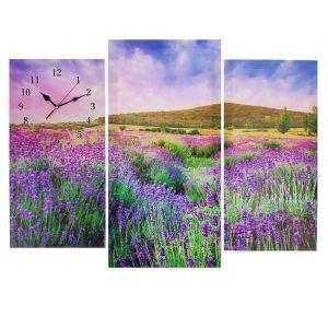 Часы настенные модульные «Цветочное поле», 60 ? 80 см