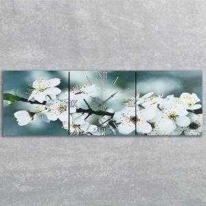 Часы настенные модульные «Весеннее цветение», 35 ? 110 см