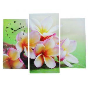 Часы настенные модульные «Сиреневые цветы», 60 ? 80 см