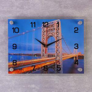 """Часы настенные, серия: Город, """"Мост"""", 25х35 см 2267954"""