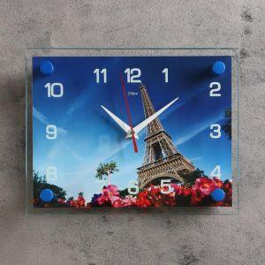 """Часы настенные, серия: Город, """"Эйфелева башня"""", 20х26  см, микс 2267860"""