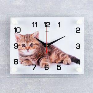 """Часы настенные, серия: Животный мир, """"Котенок"""", 20х26  см, микс 1377025"""