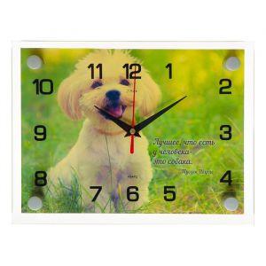 """Часы настенные, серия: Животный мир, """"Собачка"""", 20х26 см микс 2918859"""