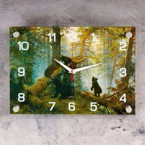 """Часы настенные, серия: Животный мир, """"Утро в сосновом бору"""", 25х35  см, микс 2918868"""