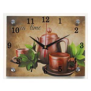 """Часы настенные, серия: Интерьер, """"Чайный набор """"Tea Time"""", 20х25 см, микс 1236445"""