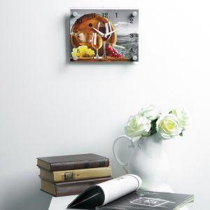"""Часы настенные, серия: Кухня, """"Вино"""", 20х26  см, микс 2267890"""