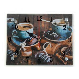 """Часы настенные, серия: Кухня, """"Кофе и конфеты"""", 20х25 см 1236442"""