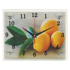 """Часы настенные, серия: Кухня, """"Лимонный аромат"""", 20х25  см, микс 1251846"""